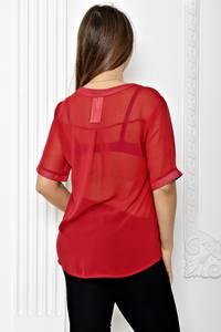Блуза прозрачная с коротким рукавом Т1812