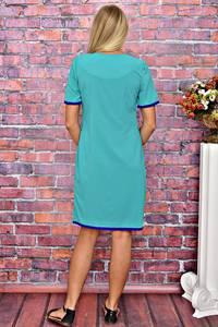 Платье короткое однотонное летнее Т5915