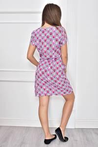 Платье короткое с принтом летнее Т8961