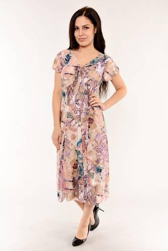 Платье длинное с коротким рукавом летнее И6142