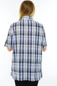 Рубашка в клетку с коротким рукавом М9578