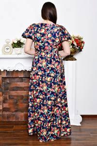 Платье длинное нарядное с принтом Р6900