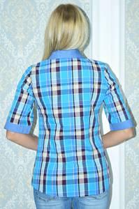 Рубашка в клетку с коротким рукавом Р9794