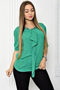 Блуза прозрачная с коротким рукавом Т1813
