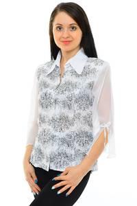 Рубашка белая с принтом М5518