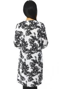 Рубашка-туника с принтом прозрачная с длинным рукавом Н5942
