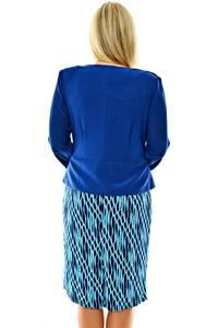 Платье короткое с принтом офисное П0414
