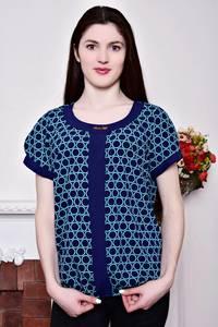 Блуза синяя с коротким рукавом Р8804