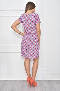 Платье короткое с принтом летнее Ф0114
