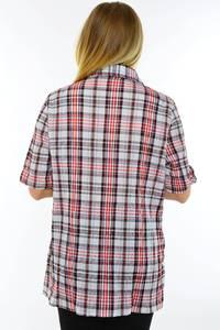 Рубашка красная в клетку М9579