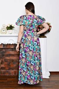Платье длинное нарядное с принтом Р6901