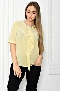 Блуза прозрачная с коротким рукавом Т1814