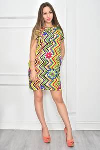 Платье короткое с принтом летнее Ф0115