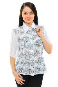 Рубашка белая с принтом М5519