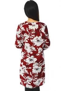 Рубашка-туника с принтом прозрачная с длинным рукавом Н5943