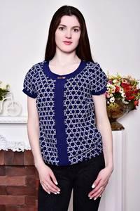 Блуза синяя с коротким рукавом Р8805