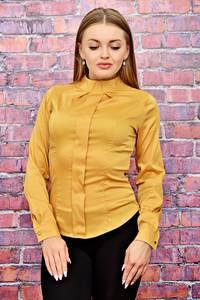 Блуза с длинным рукавом желтая Т4486