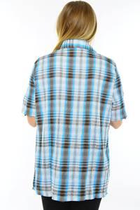 Рубашка синяя в клетку М9580