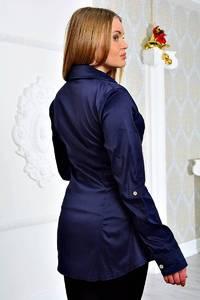 Рубашка синяя с длинным рукавом П9061
