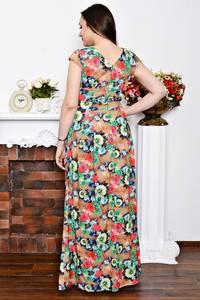 Платье длинное нарядное с принтом Р6902