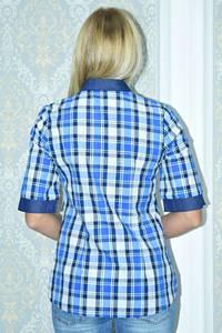 Рубашка в клетку с коротким рукавом Р9795