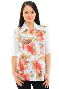Рубашка белая с принтом М5515