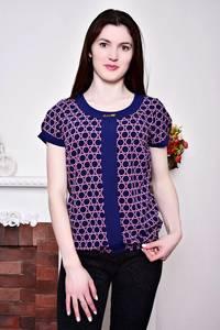 Блуза синяя с коротким рукавом Р8806