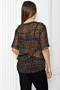 Блуза прозрачная с коротким рукавом Т1815
