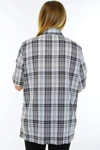 Рубашка удлиненная в клетку М9581