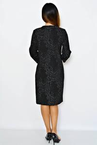 Платье длинное деловое черное М0267
