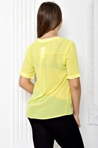 Блуза прозрачная с коротким рукавом Т1816
