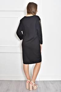 Платье короткое черное современное Т6715