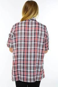 Рубашка красная в клетку М9582