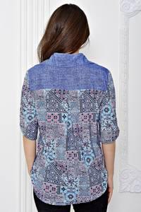 Рубашка джинсовая с принтом Т0672