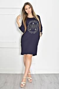 Платье короткое черное современное Т6716