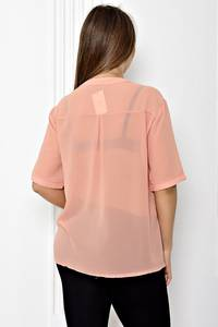 Блуза прозрачная с коротким рукавом Т1817