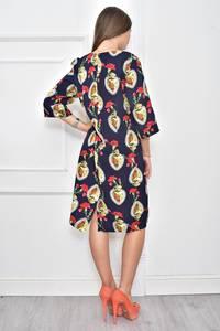 Платье короткое с принтом повседневное Ф0118