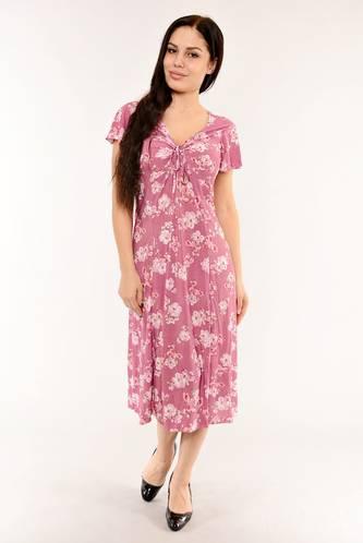 Платье длинное с коротким рукавом летнее И6147