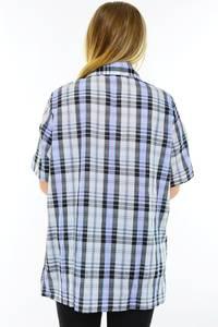 Рубашка в клетку с коротким рукавом М9583