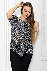 Блуза прозрачная с коротким рукавом Т1818