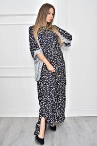 Платье длинное с принтом повседневное Т8970