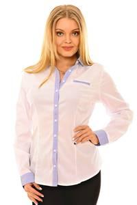 Рубашка белая с длинным рукавом Л9697