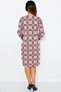 Платье длинное с принтом зимнее М0269