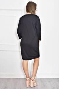Платье короткое черное современное Т6717