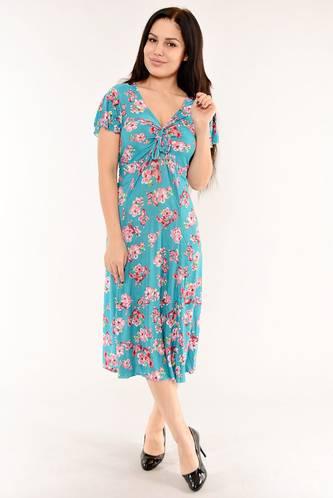 Платье длинное с коротким рукавом летнее И6148