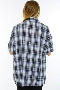 Рубашка в клетку с коротким рукавом М9584