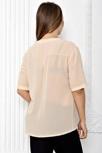 Блуза прозрачная с коротким рукавом Т1819