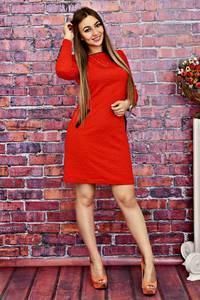 Платье короткое облегающее красное Т4144