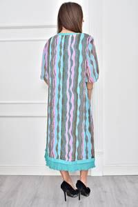 Платье короткое с принтом нарядное Т8971