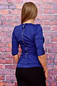 Блуза синяя Т4491
